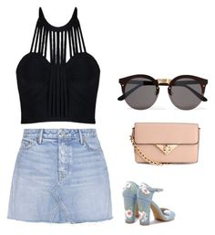 Untitled #11 by natasyanab on Polyvore featuring polyvore, fashion, style, GRLFRND, Illesteva and clothing