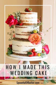 Thinking of doing a homemade rustic wedding cake? I've shared all the recipes, timeline, resources, and even what to bring at the venue to make your diy wedding cake experience successful and with less hassle! Simple and easy tutorial to stack and transport the cakes. How To Make Wedding Cake, Wedding Cake Rustic, Rustic Cake, Easy Wedding Cakes, Homemade Wedding Cakes, Naked Wedding Cake Recipe, Wedding Cake Recipes, Gold Wedding, Wedding Decor