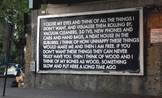 I close my eyes and think of all the things I don't want. (Robert Montgomery)
