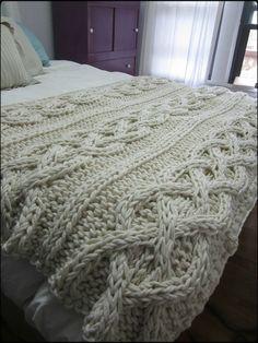 mantas de trico para cama - Pesquisa Google