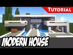 Minecraft: Easy Modern House / Mansion Tutorial #3 + DOWNLOAD - 1.9 [ How to make ] - YouTube