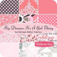 Big Dreams It's a Girl Thing Fat Quarter Bundle Michael Miller Fabrics - Fat Quarter Shop