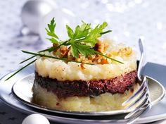Découvrez la recette Parmentier de boudin noir à la poire sur cuisineactuelle.fr.