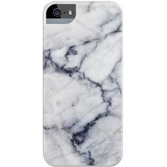 White Marble Phone Case ❤ liked on Polyvore featuring accessories, tech accessories and phone cases