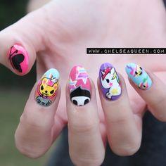 Tokidoki freehand nail art