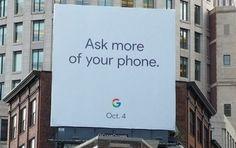 Billboard revealed Google Pixel 2,Pixel 2 XL is launching on October 4