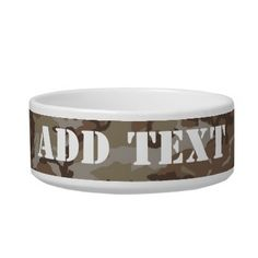 Woodland Desert #Military #Camouflage Pet Water Bowl by #Camouflage4you  shipping to Scottsdale, AZ