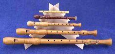 Flötenständer - 5 Blockflöten #1c