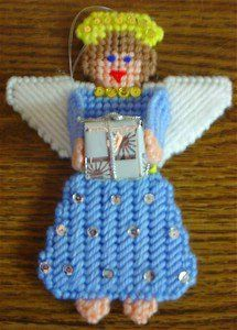 Free Plastic Canvas Magnet Patterns | instant download of this pattern angel tree ornament pattern 192