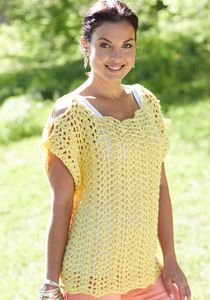 Caron International   Free Project   Crochet Scalloped Top