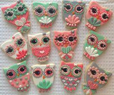 Owl Cookies - Hayleycakes and cookies