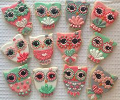 Owl Cookies - Hayleycakes and cookies