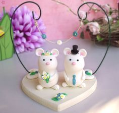 mice wedding cake topper