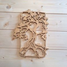Oak Tree Scroll Saw Cut Out Wall Art by ComeByeCrafts on Etsy