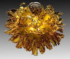 Blown glass art chandeliers for commercial properties: The Park at 14th, Washington DC