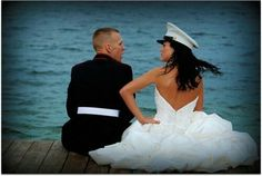 Marine military wedding! www.customdreamgowns.com