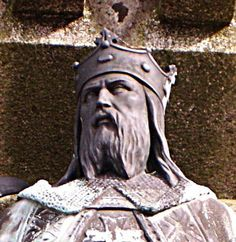 Rollo (c. 846 – c. 931), baptised Robert and sometimes numbered Robert I to distinguish him from his descendants, was a Danish or Norse Viking who was founder and first ruler of the Viking principality which soon became known as Normandy. His descendants were the Dukes of Normandy, and following the Norman conquest of England in 1066 by his son William the Conqueror, kings of England.