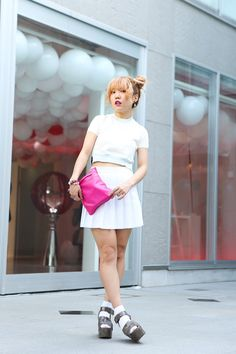 Yukari wearing American Apparel, Cry., Vivienne Westwood in Harajuku  | Fashionsnap.com