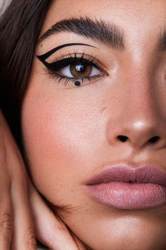 Edgy Makeup, Makeup Eye Looks, Eyeliner Looks, Eye Makeup Art, No Eyeliner Makeup, Cute Makeup, Hair Makeup, Black Girl Makeup Natural, Natural Makeup