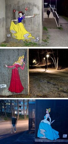 Snow White, Sleeping Beauty and Cinderella by Herr Nilsson in Stockholm, Sweden.