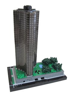 """Lake Point Tower"" in Chicago, Illinois.  Built in 1968, by architects John Heinrich and George Schipporeit.   This is a great LEGO model of this Modernist High-rise apartment building.  LEGO Model by accomplished LEGO builder Spencer R.  More LEGO Photos at http://www.mocpages.com/moc.php/391512  More info about the building at: http://en.wikipedia.org/wiki/Lake_Point_Tower"