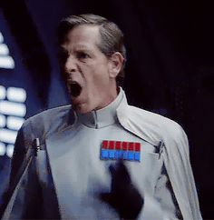 I love Krennic and his facial expressions.