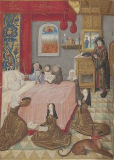 http://gallica.bnf.fr/ark:/12148/btv1b55007801k/f756.zoom. Note the devotional painting on the sideboard; the shelf.