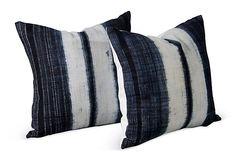 Tie Die Vintage Pillows, Pair on OneKingsLane.com