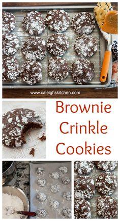 Brownie Krinkle Cookies from Cookie Love Cookbook   Caleigh's Kitchen.  #bloggingforbooks #cookies #brownies