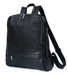 93.86$  Watch here - http://aliuqn.worldwells.pw/go.php?t=32522366869 - Fashion Leather Backpack For Geenages Boys and Girls Schoolbag Black Cowhide Bags Fit for 13 inch laptop # PR583125
