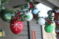 Do It MyselfF: Hand made outdoor ornaments tutorial