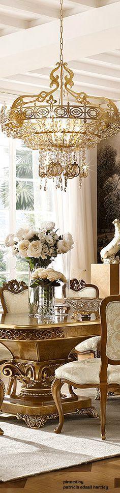 Mediterranean/Tuscan/Old World Decor - Luxury Decor Luxury Chandelier, Luxury Lighting, Luxury Decor, Luxury Interior, Chandeliers, Interior Design, World Decor, Tuscan Decorating, Luxury Homes