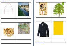 Metodo Montessori schede delle nomenclature per le difficoltà ortografiche GI
