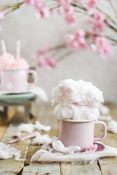Helado de algodón de azúcar | Con aroma de vainilla