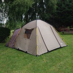 Lichfield Creek 4 Man Dome Tent with Living Area u0026 Side Door (Family C&ing) & Lichfield Cullen 4 Man Tent Four Person Dome Tent   TentHappy on ...