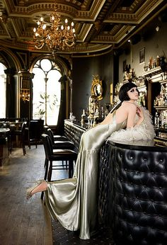 Paris inspired Glamour Noir shot at The Voodoo Rooms, Edinburgh.