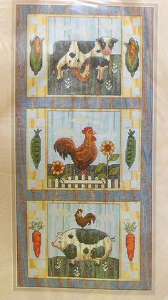 Sunset Animal Trio Counted Cross Stitch Kit