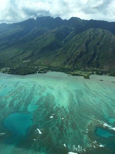 Unser Rundflug mit einer kleinen Propellermaschine startete in Molokai. Wir flogen über das längste durchgängige Saumriff von Hawaii.