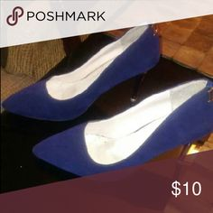Navy Blue heels Work shoes, Size: 8 Shoes Heels