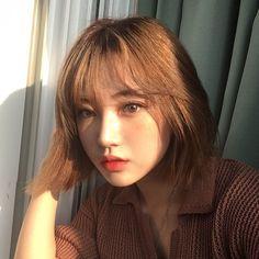 Pretty Korean Girls, Korean Beauty Girls, Cute Korean Girl, Korean Short Hair, Ulzzang Short Hair, Aesthetic People, Aesthetic Women, Ulzzang Korean Girl, Asian Hair