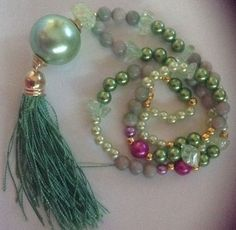 "DIY COLLANA DI PIETRE CON NAPPA "" SMITH APPLE"" – TASSEL NECKLACE – CREATIVE IDEAS 