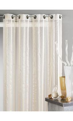 1000 id es sur le th me rideaux de douche rayures sur pinterest rideaux d - Voilage organza blanc ...