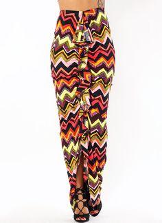 Get Ruffled Up Zig Zag Skirt $34.50