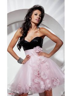 Buy Custom Made High Quality New Arrival Empire Sweetheart Strapless Baby doll Flower Appliques Short Pink Cheap Homecoming Dresses HD-10475 at wholesale cheap prices from Bridal-Buy.com