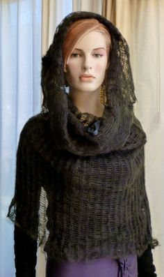 Knit Capelet Hoodie