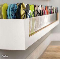 Ideia para guardar calçados
