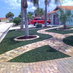 Delightful This Is A Very Interesting Way To Use Green #rubbermulch Via #Pinterest ·  Backyard PatioRubber MulchPatio ...