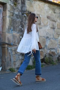 TUNIC & DENIM & FRINGED & CUSHION (b a r t a b a c)