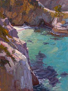 China Cove by Jim Wodark Oil ~ 16 x 12