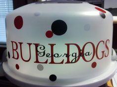 Georgia Bulldogs Cake Carrier